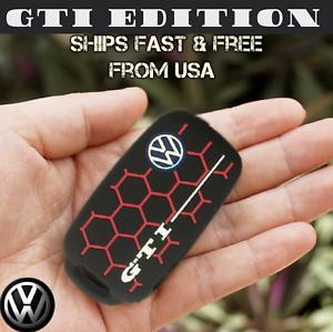 VW-Key-Fob-Case-GTI-Edition-Black-amp-Red-Skin-Free-Fast-Shipping