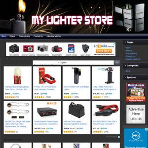 PREMIUM LIGHTER STORE - Affiliate Website For Sale - Free Domain Name & Hosting!