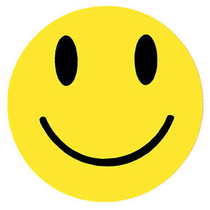 Smiley Face Sticker - 75mm Rave Prodigy Pendulum House Music Hippy 80s Retro