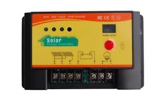Regulateur controleur de charge solaire PWM 12V/24V  25A