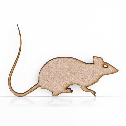 Wooden MDF Rat Animal Halloween Craft Shape Embellishment 3mm Thick Blank