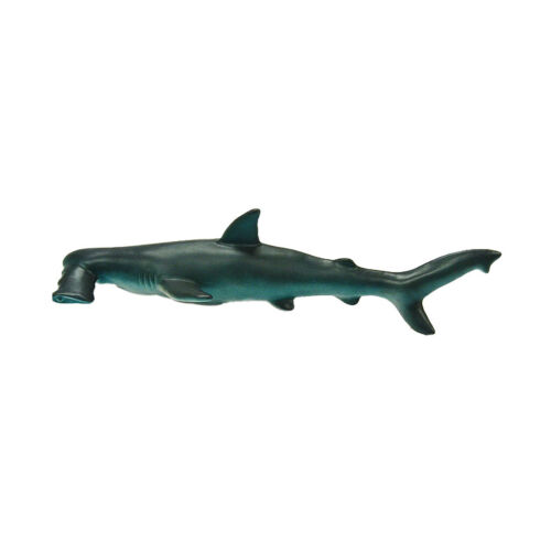 Rubber Stuffed  Shark Model Zoo Figure Kids Collectibles Play Toy