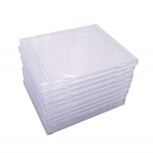50 pcs 10.4 mm Standard Single Clear CD Jewel Case Assembled Clear Tray