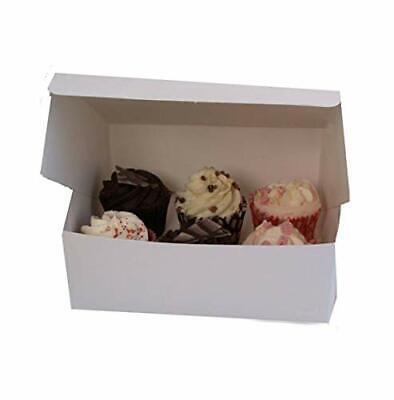 "White Cake Boxes Foldable 6/""x 6/""x2.5/"" 150x150x75 mm Birthday Wedding Takeaway"