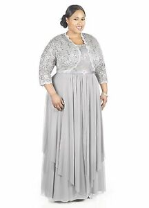 Rm Richards Womens Plus Size Formal Jacket Dress Mother Of The