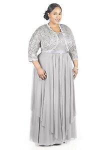 95d0879a2d8c2 Details about R M Richards Women s Plus Size Formal Jacket Dress - Mother  of the Bride Dress