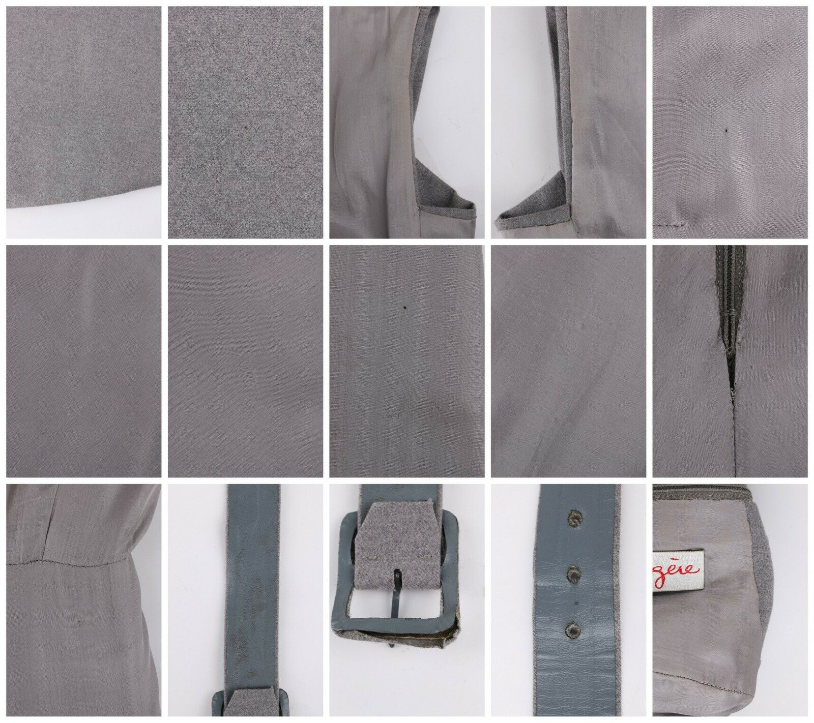 PAULINE TRIGERE c.1980's Gray Wool Extended Shoul… - image 9