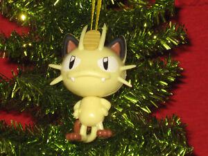 Pokemon Christmas Ornaments.Details About Meowth Pokemon Christmas Figurine Ornament