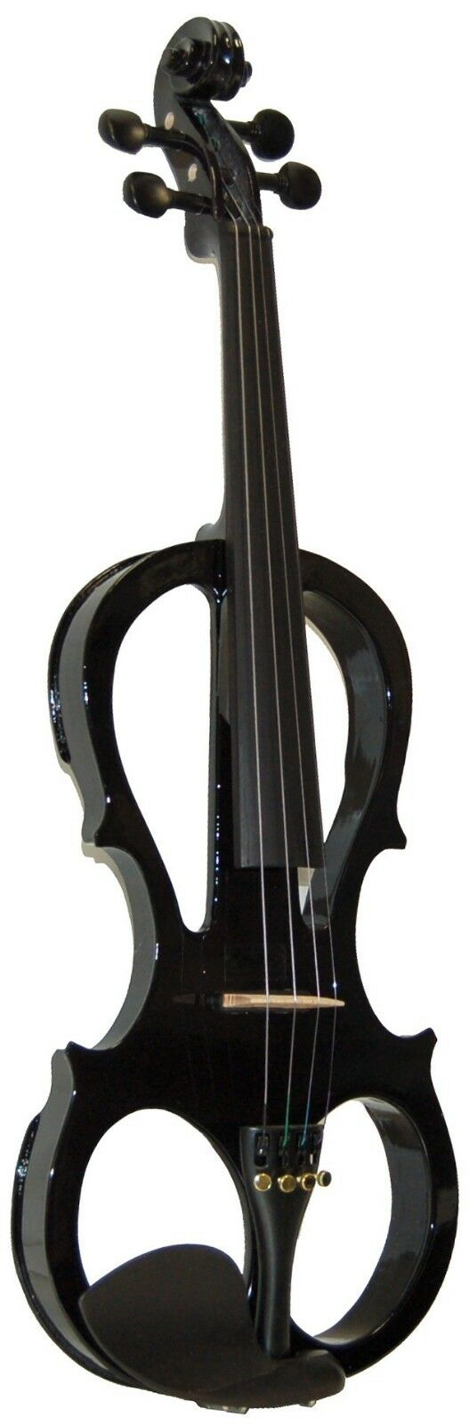 NEW MADERA schwarz 4 4 ELECTRIC VIOLIN PACKAGE WITH CASE, BOW, ROSIN - V2000CEQ