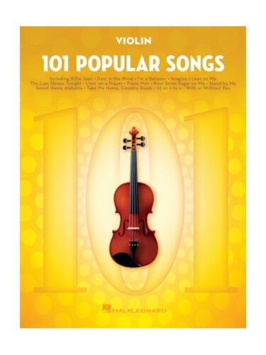 101 Popular Songs Violin Learn to Play Present Violin SHEET MUSIC BOOK POP HITS