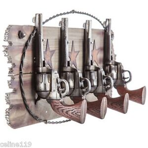 Four Horse Hooks On Wood Plaque Western Home Decor Farm Cabin Cottage