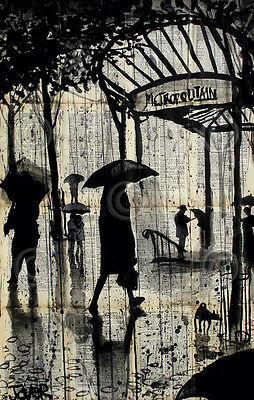 Metropolitan by Loui Jover Metropolitain City Umbrella Poster 13x19 ART PRINT