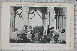 1901-PRINT-INAUGURATION-AUSTRALIAN-COMMONWEALTH-SWEARING-GOVERNOR-GENERAL
