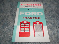1958 FORD TRACTOR ACCESSORIES and SPECIAL ITEMS BROCURE BOOKLET ORIGINAL NICE