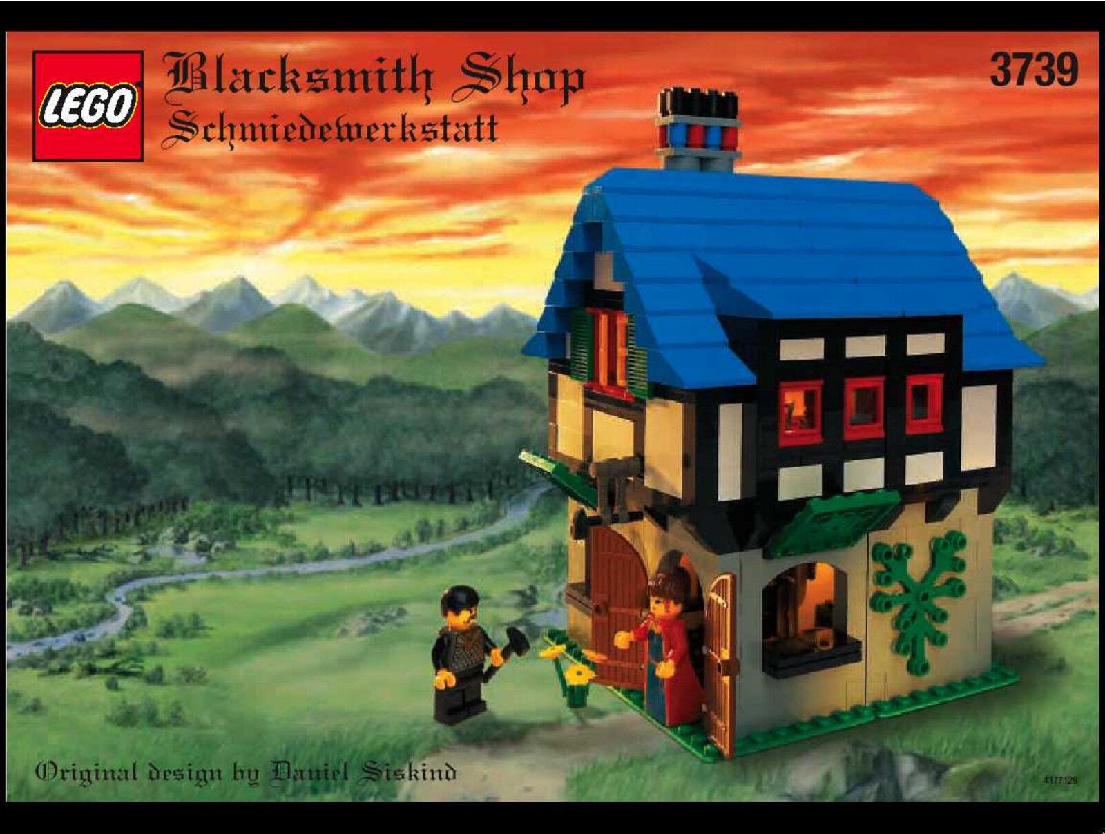 Lego Château - Rare Classique - Forgeron Magasin 3739 - Complet W Instructions