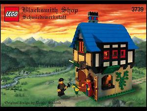 Lego Château - Rare Classique Forgeron Magasin 3739 Complet Avec /
