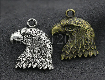 5//20//100pcs Tibetan Silver Beautiful  Eagle Head Jewelry Charms Pendant 22x20mm