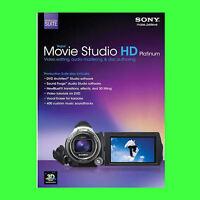 Sony Vegas Movie Studio HD Platinum **Suite** 11  FOR 5 PC's, Windows 7 & 8 & 10