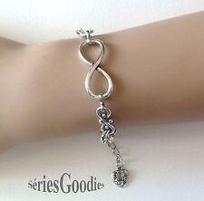 bijoux revenged bracelet pendentif symbole de l'infini sur chaine