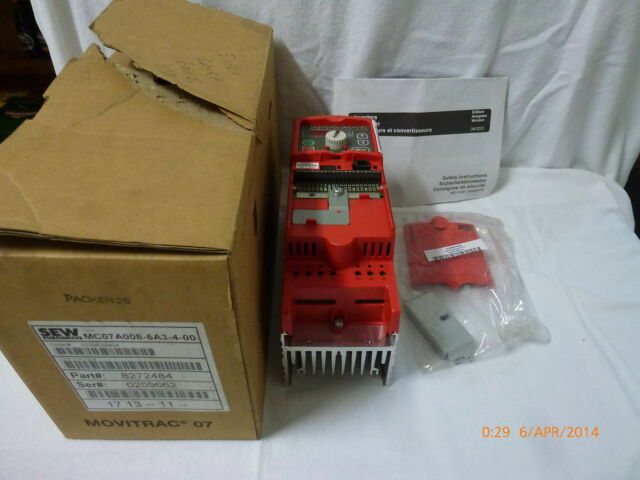 SEW MC07A008-5A3-4-00 Motor Drive Frequency Converter 380..500V 50..60Hz New