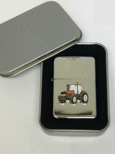 Case International Rojo Esmalte Placa Encendedor De Tractor sin combustible Inc Agricultura Caja De Regalo