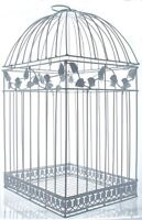 NEW White Birdcage Wedding Gift Card Holder Wishing Well Boxes showers Cage