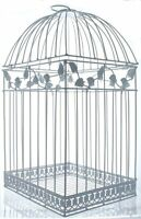 White Birdcage Wedding Gift Card Holder Wishing Well Boxes Showers Cage