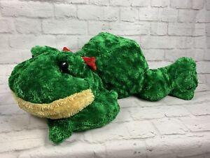 Dan-Dee-Collector-039-s-Choice-Frog-26-034-Plush-w-Red-Bow-Stuffed-Animal-Toy