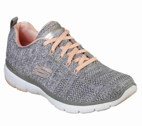 Skechers Sport Womens Flex Appeal 3.0 High Tides Baskets Femmes Gris