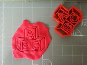 Cake Decorating Letter Blocks : ABC Baby Letter Blocks Cookie Cutter eBay