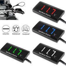 Usa 12v Digital Led Display Voltmeter Voltage Gauge Panel Meter Car Motorcycle