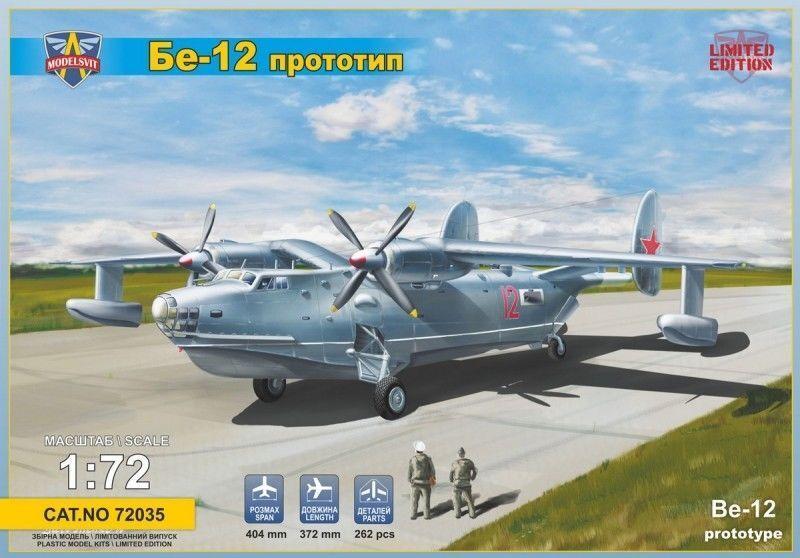 Modelsvit Beriev Beriev Be-12 Predotype 1 72 Kit Model Set Item 72035