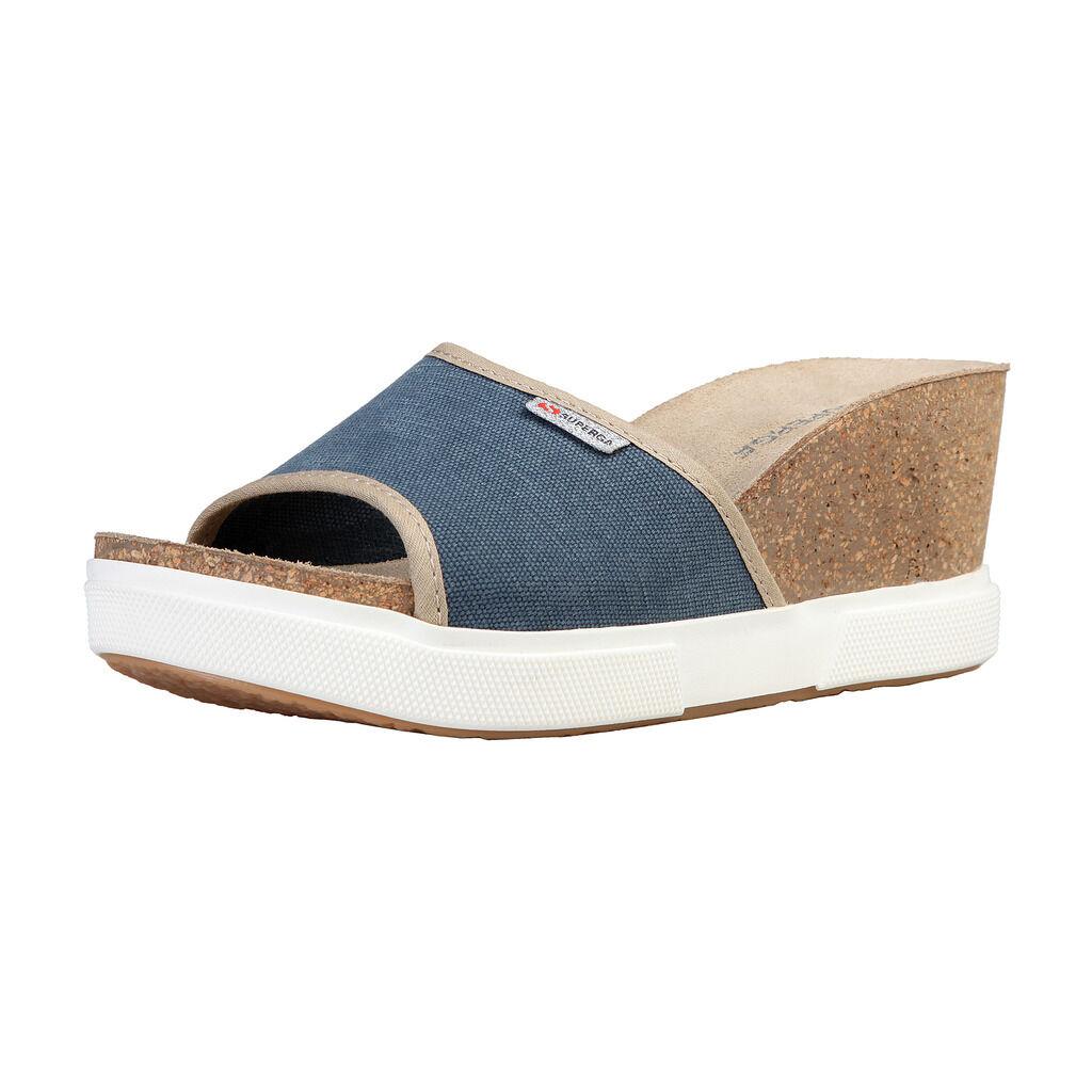 Superga s31p676_blu zapatos de mujer, sandalias, sandalias, Clogs, UE 38-41