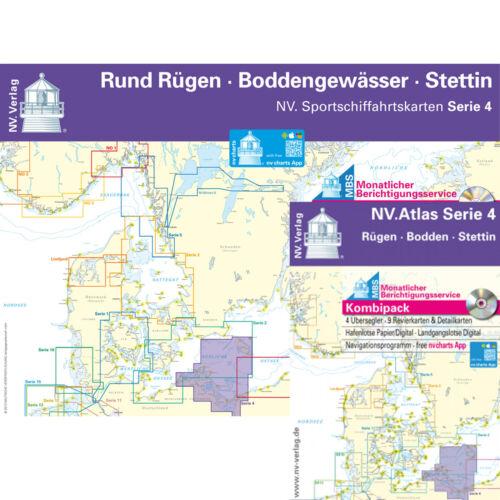 Seekarten Ostsee NV-Verlag Sportbootkarten Serie 4 NEU Rund Rügen Sportbootkarte