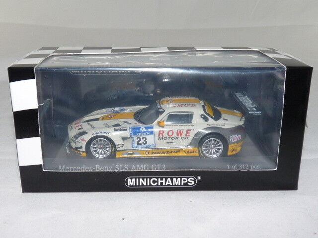 Minichamps 410133223 MB SLS AMG gt3 Rowe RACING 24h NURBURGRING 2013
