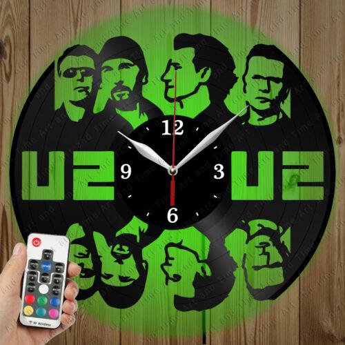 Details about  /LED Vinyl Clock U2 LED Wall Art Decor Clock Original Gift 3234
