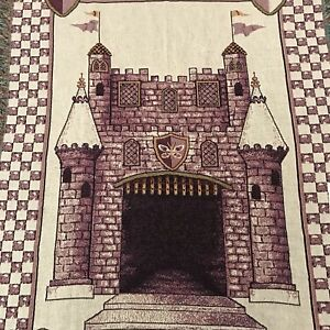 Princess-Blanket-Castle-Woven-Tapestry-Wall-Art-Pure-Country-Weavers-USA-NWT