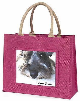 Schnauzer-hund dir für immer Große Rosa Einkaufstasche Weihnachten Geschenk,