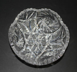 Antique-American-Brilliant-Period-cut-glass-fruit-Bowl