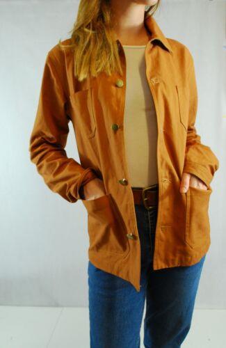10 12 14 16 18 Unisex stile vintage francese Tela Cotone delle faccende domestiche//Workwear Giacca
