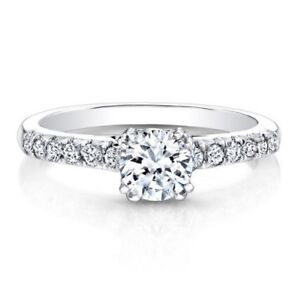 0-72-Ct-Round-Cut-Real-Diamond-Engagement-Ring-18K-Solid-White-Gold-Size-5-6-5-7