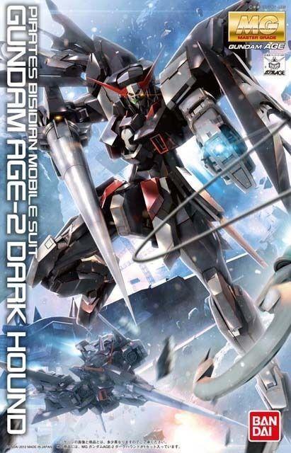 Bandai MG 1 100 Gundam Age-2 Dark Hound Modello Plastica Kit Età da Giappone
