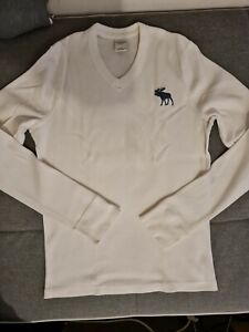 Abercrombie Fitch V NECK PULLOVER WEIß XL