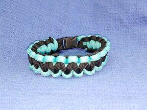 Black / Teal Paracord Bracelet