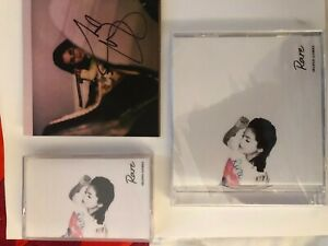Selena-Gomez-Rare-Red-Cassette-Tape-CD-And-Signed-Autographed-Art-Card-New