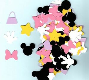 Yellow Red and Black Mickey Minnie Mouse Paper Party Confetti Decoration 1 Inch 450 Pieces