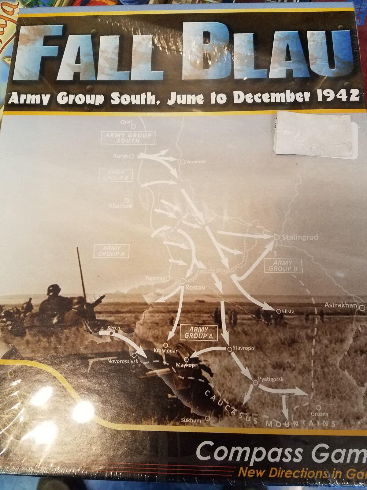 Fall blå  Armégruppen Södra juni-december 1942- Compass Games Board Games Board ny