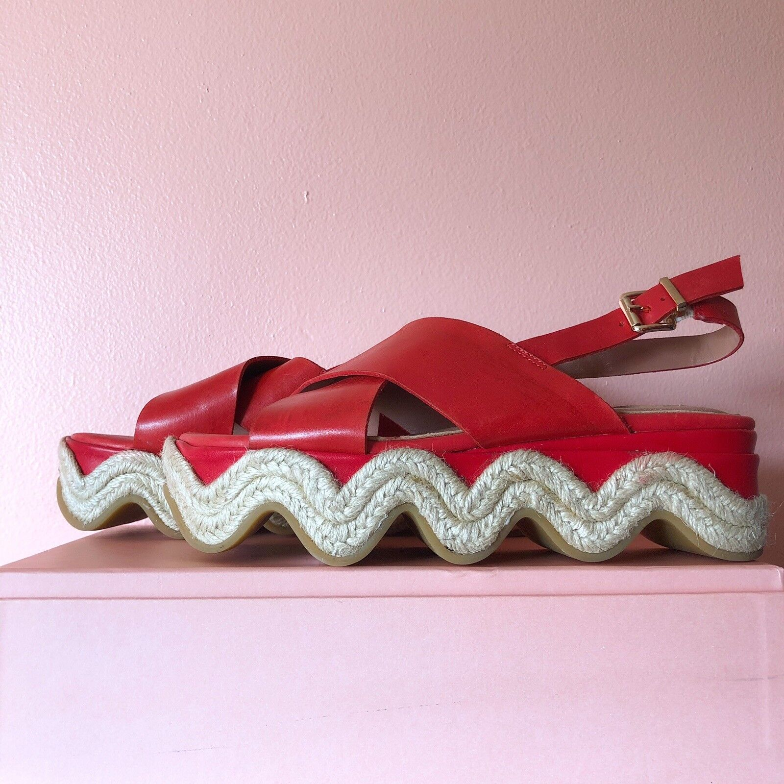 BCBG Max Azria Wave Espadrille Platform Sandals