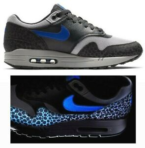 New NIKE Air Max 1 QS Reflective Mens Sneaker gray blue all sizes | eBay