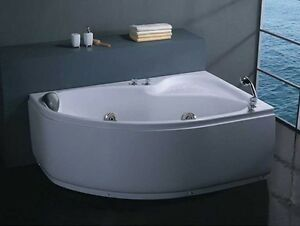 Vasche vasca idromassaggio doppia bagno 150x100 full opt con doccia pompa ita ebay - Vasca da bagno doppia ...